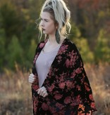 By Together The Floral Velvet Burnout Kimono