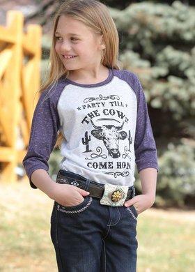 Cinch Girls Cows Come Home Raglan