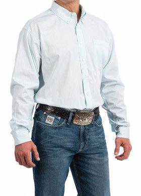 Cinch Cinch Mint Stripe Long Sleeve Shirt