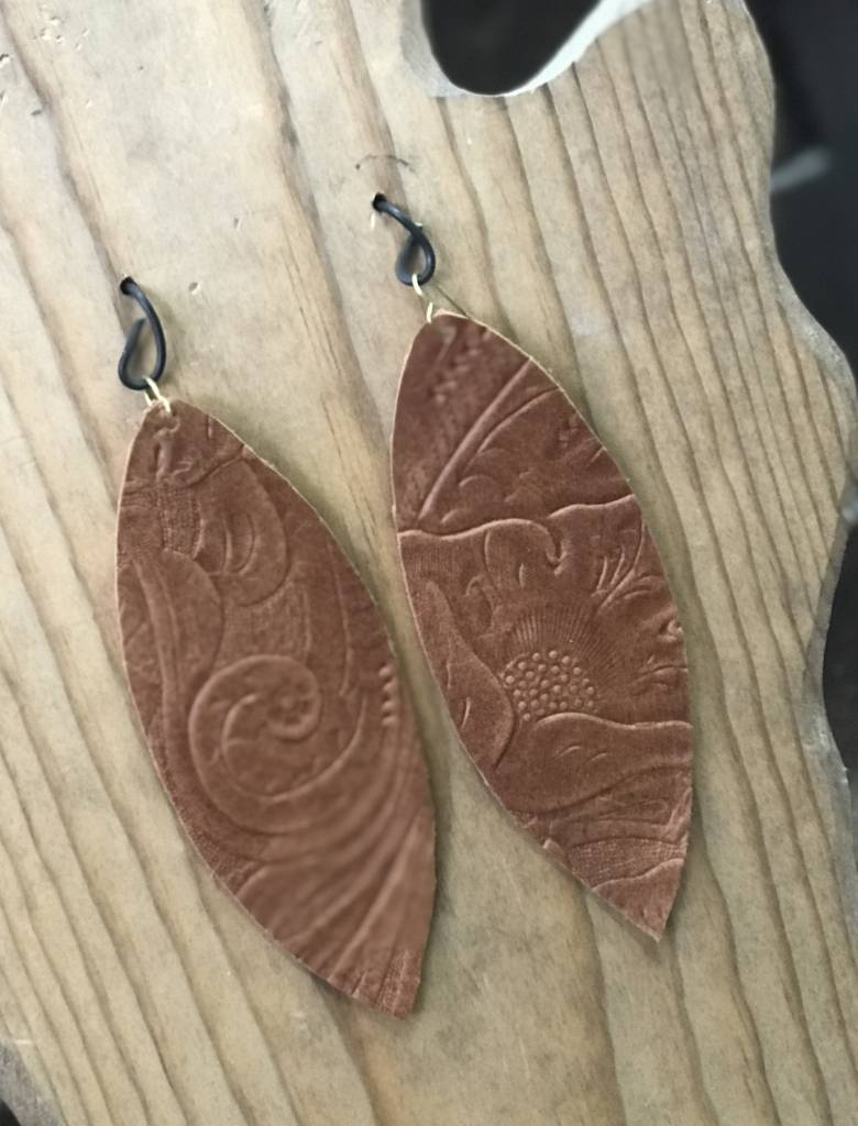 Stamping821 Brown Tooled Oval