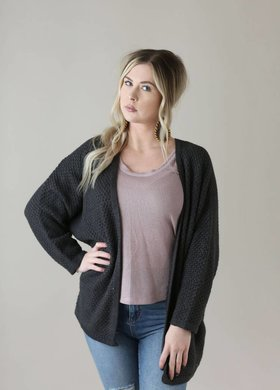 Sadie & Sage The Dolman Top Charcoal
