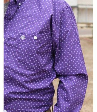 Wrangler Wrangler Purple Triangle Button Down
