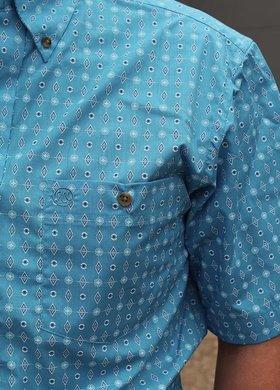 Wrangler Wrangler Turquoise Aztec Short Sleeve