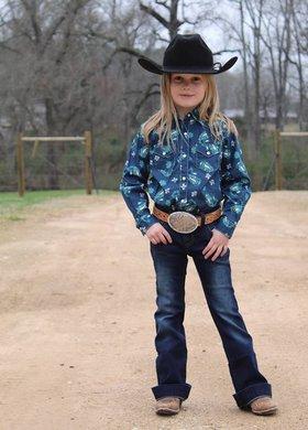Wrangler Little Girl Paisley Snap