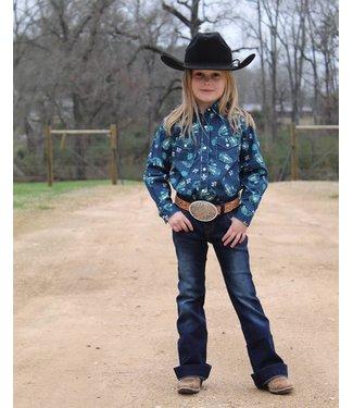 176f34f937cd8 Wrangler Little Girl Paisley Snap