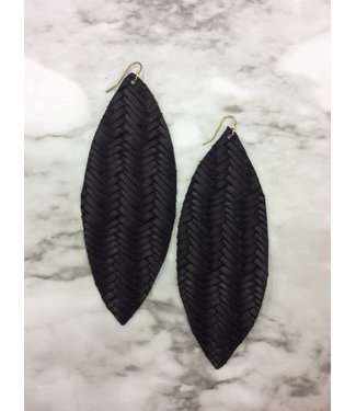 Stamping821 Black Weave Oval Earring