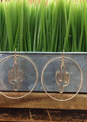 lola claire Cactus Circle Earring