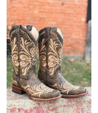 Corral Boot Co Circle G Distressed Embroidered Boot
