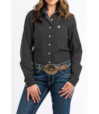 Cinch Ladies Cinch Black Print Arena Shirt