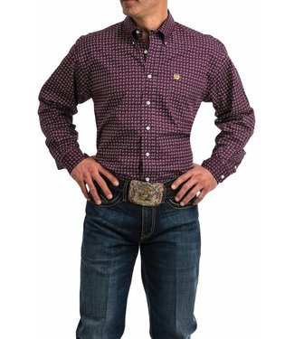 Cinch Cinch Purple Paisley Print Button Down
