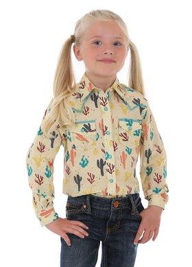 Wrangler Little Girls Sunshine Cactus Arena Shirt