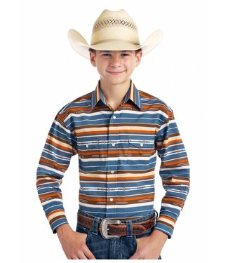 Panhandle Slim Youth Panche Blue Roughstock Pearl Snap