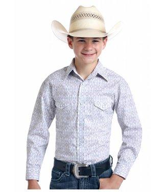 Panhandle Slim Youth Old El Paso Roughstock Pearl Snap
