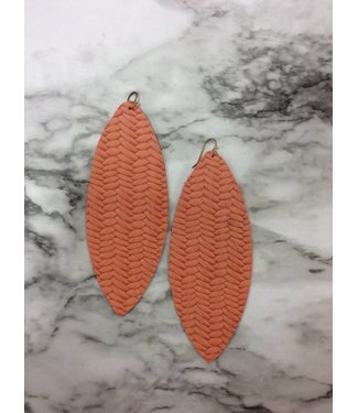 Stamping821 Coral Weave Oval Earring