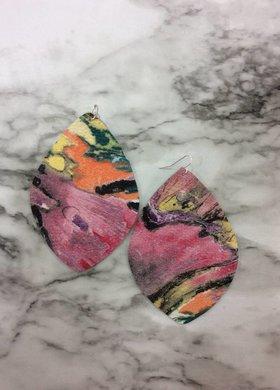 Stamping821 Monet Lemon Shape Earring