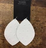 Stamping821 White Ostrich Lemon Shape Earring