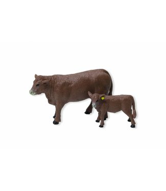 Big Country Toys Red Angus Cow & Calf Pair