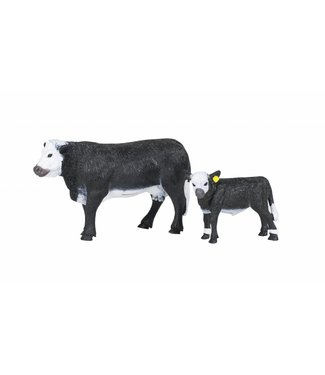 Big Country Toys Black Baldy Cow & Calf Pair