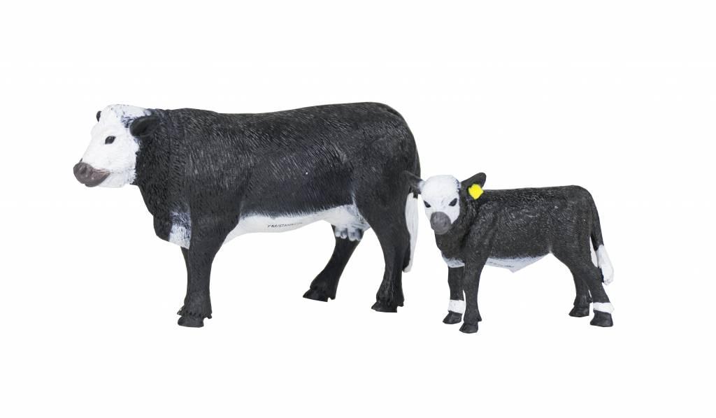 Big Country Toys Black Baldy Cow & Calf Pair