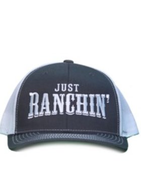 Diamond T Outfitters Just Ranchin' Cap Charcoal + White