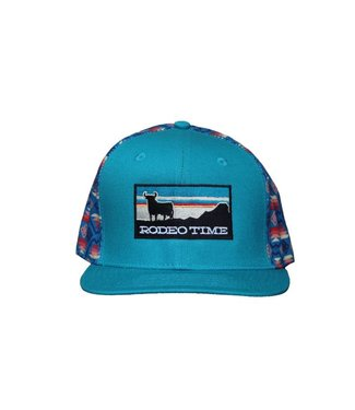 Diamond T Outfitters Rodeo Time Teal Aztec Cap