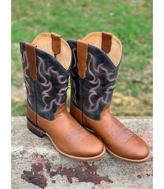 Old West Old West Navy Round Toe Boot