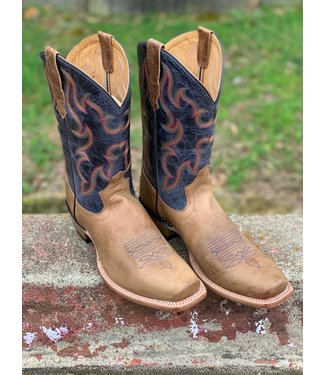 Old West Old West Blue Crunch Bull Nose Boot