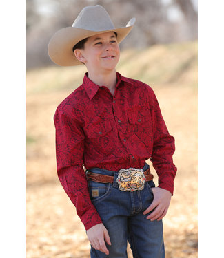 Cinch Boys Cinch Red Paisley Pearl Snap