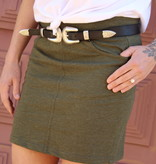 Z Supply Army Green Knit Skirt