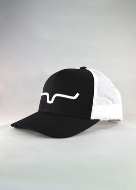Kimes Ranch Weekly Trucker Black/White