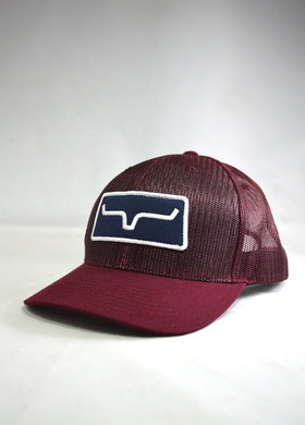Kimes Ranch All Mesh Trucker Burgundy