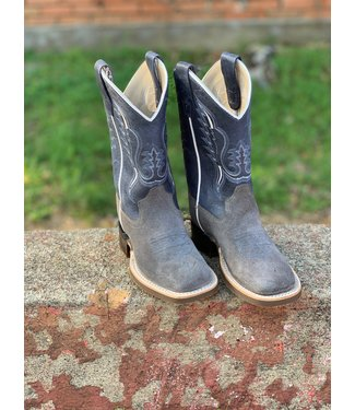 Old West Grey Roughout Boot BSC1903