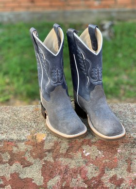 Old West Grey Roughout Boot BSY1903