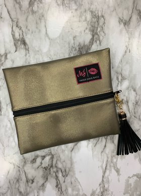 Makeup Junkie Bags MJ Bronze Metallic Small