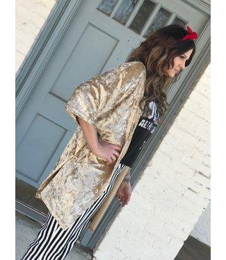 Panhandle Slim Gold Velvet Kimono