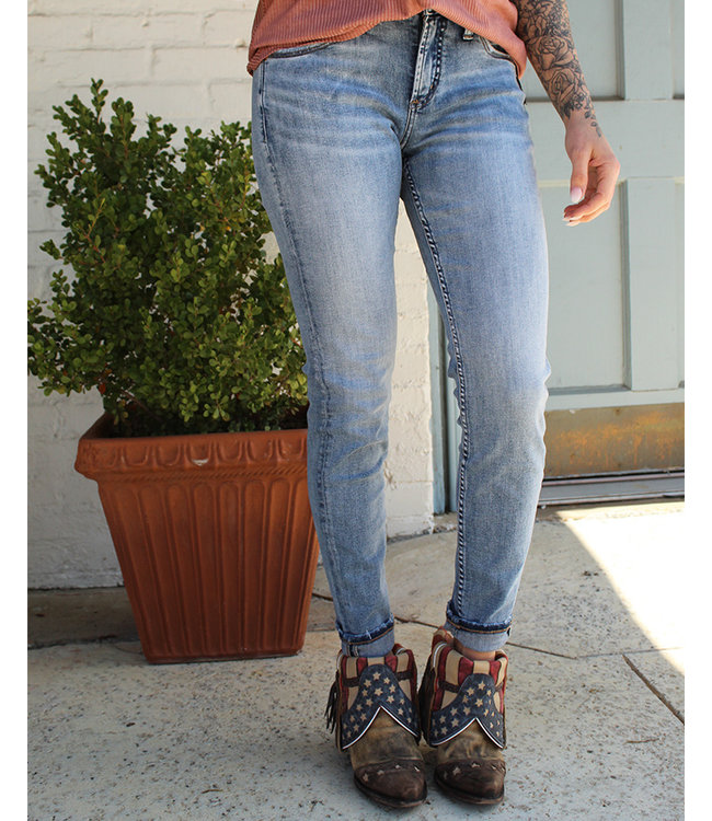 Silver Jeans Avery High Rise Indigo Skinny