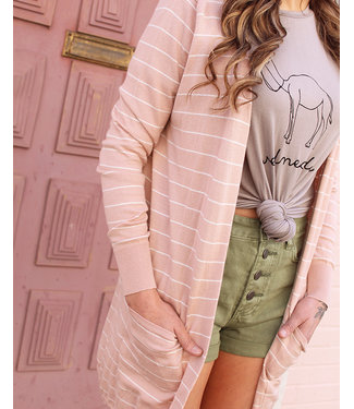 billabong Worth It Dusty Blush Cardi