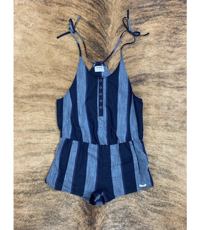 3607d2f236e97 Stripe Tie Romper - Diamond T Outfitters