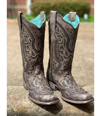 Corral Boot Co Corral Brown & Grey Metallic Boot