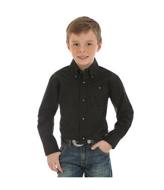 Wrangler Boys Classic Wrangler Button Down Black