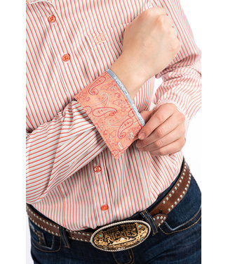 Cinch Cinch Ladies Coral Stripe Shirt