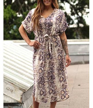 Entro Inc Python Midi Dress