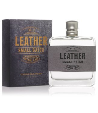 Leather Small Batch Vintage Label Cologne