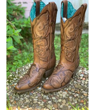 Corral Boot Co Whiskey Floral Embroidered Boot