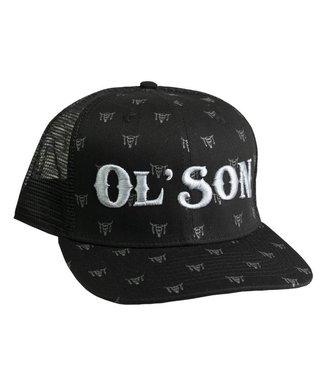 Diamond T Outfitters Ol Son Black Skull Print Cap
