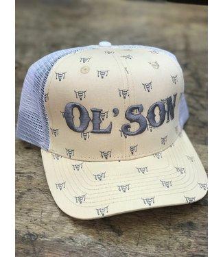 Diamond T Outfitters Ol Son Khaki Skull Print Cap