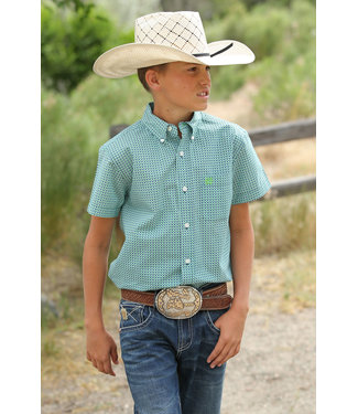 Cinch Boys Cinch Green/Blue Button Down