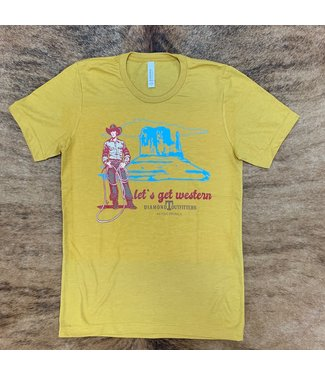 Diamond T Outfitters Mustard Get Western DTO Tee