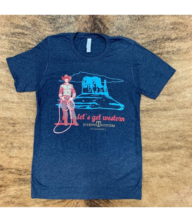 Diamond T Outfitters Navy Get Western DTO Tee