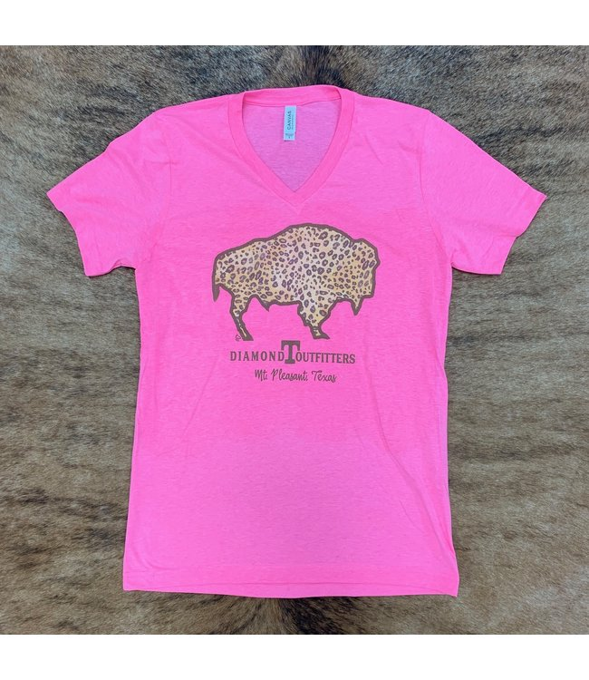 Diamond T Outfitters Buffalo DTO Pink Tee